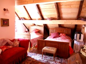 La chambre rose du gite la Scierie