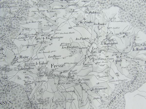 Carte de Fresse sous Napoléon III (1858)