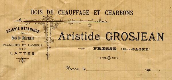 Papier à lettre de la scierie vers 1900